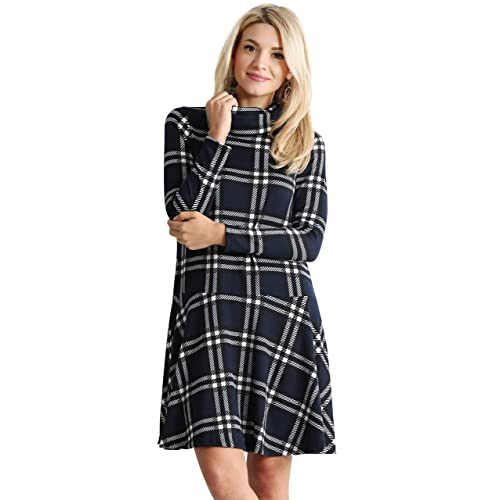 5c04c6d5f33 Womens Long Sleeve Winter Cowl Neck Sweater Dress Reg and Plus Size- Made  in USA