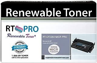 Renewable Toner PRO Compatible MICR Toner Cartridge Replacement for HP 26A CF226A for Laserjet Pro M402 MFP M426