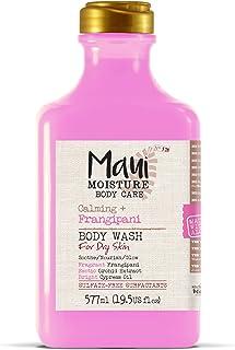 Maui Moisture Frangipani Body Wash for Dry Skin 19.5 Ounce Moisturizing Body Wash Formulated for Dry Skin, with Aloe Vera Juice and Coconut Water, Silicone Free