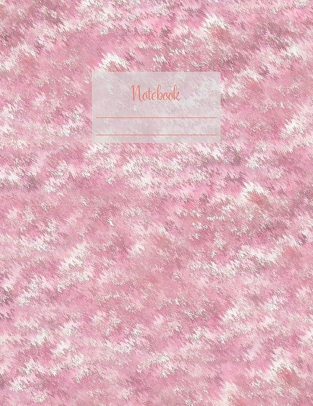 伝説黒できたNotebook: Large notebook with 120 Lined pages. Wide ruled. Ideal for School notes, Journaling, Hand lettering, Calligraphy practice. Perfect gift. 8.5' x 11.0' (Large). (Pink blur cover).