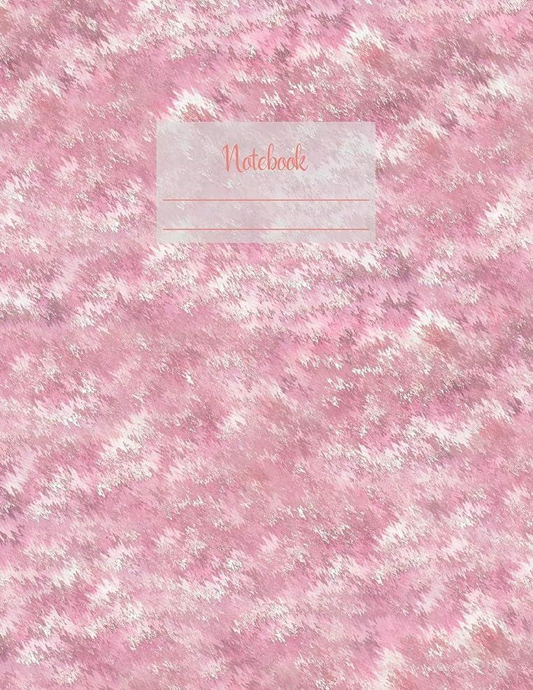 緊張実行バースNotebook: Large notebook with 120 Lined pages. Wide ruled. Ideal for School notes, Journaling, Hand lettering, Calligraphy practice. Perfect gift. 8.5' x 11.0' (Large). (Pink blur cover).