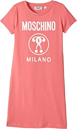 Moschino Kids - Short Sleeve Dress w/ Logo on Front (Big Kids)