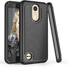 LG K20 V Case, LG K20 Plus Case for Men Women, LG K10 2017 Fashion Case, TILL(TM) [Shock Absorption] [Black] 2 in 1 Hybrid Armor Defender Protective Case Cover Shell for LG Harmony/LG Grace/LG V5