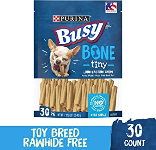 Purina Busy Made in USA Facilities Toy Breed Dog Bones; Extra Small - 30 ct. Pouch