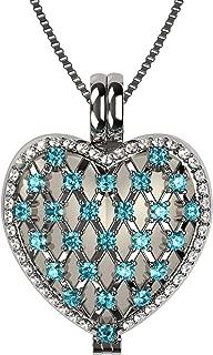 platinum heart locket