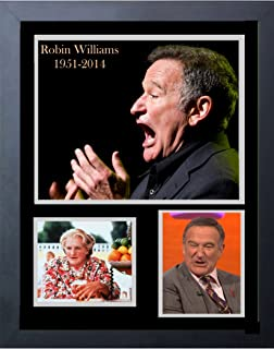 Gatsbe Exchange Robin Williams Tribute Photo Collage Framed Print 14 x 17