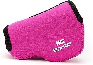 MegaGear ''ultraleichte'' Neopren Kameratasche   Schutzhülle für Spiegelreflexkamera Canon PowerShot G1 X Mark II   mit Karabiner für einfaches Tragen (Rosa)