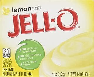 Jell-O Lemon Flavor Instant Pudding & Pie Filling, 3.4 Oz (96g) 4-pack