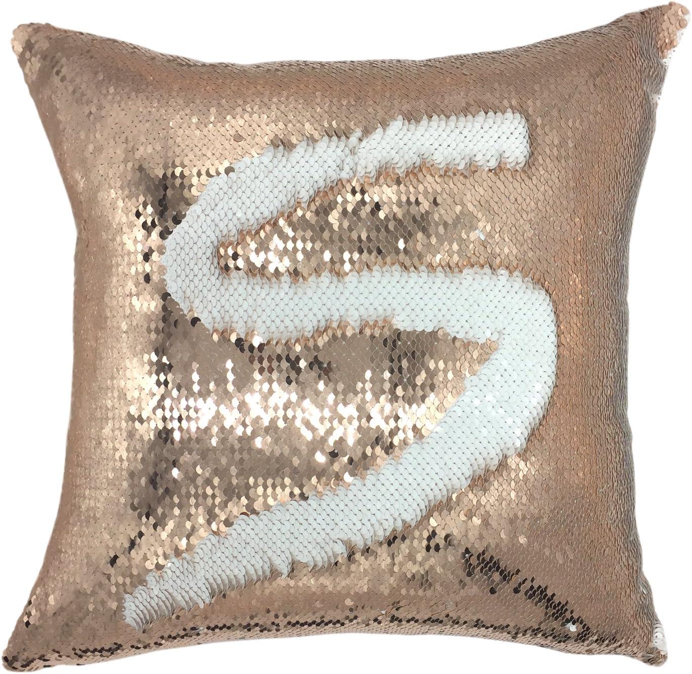 YOUR NEW SMILE Mermaid Throw Pillow Super popular specialty store Magic Case Reversible De Sequins