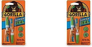 Gorilla Super Glue Gel, Two 3 Gram Tubes, Clear, (Pack of 2)