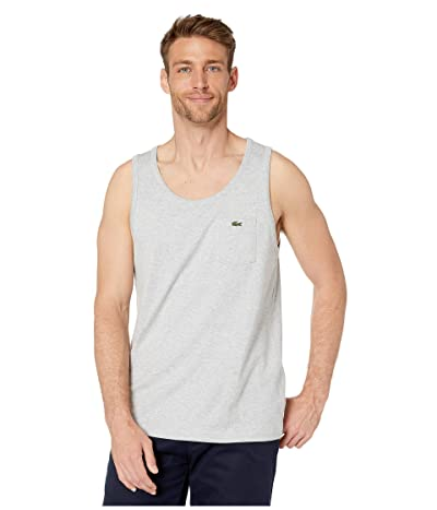 Lacoste Tank Heavy Jersey Solid T-Shirt (Silver Chine) Men