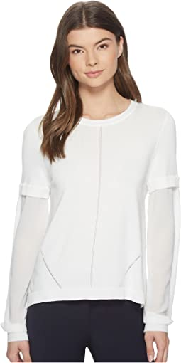 Nicole Miller - High-Low Puff Sleeve Top