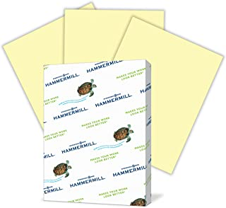 Hammermill Colored Paper, Canary Printer Paper, 20lb, 8.5x11 Paper, Letter Size, 500 Sheets / 1 Ream, Pastel Paper, Colorful Paper (103341R)