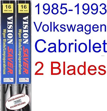 1985-1993 Volkswagen Cabriolet Replacement Wiper Blade Set/Kit (Set of 2 Blades