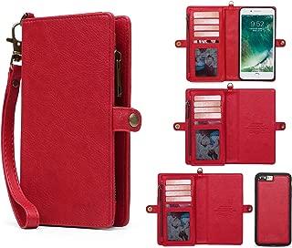 iPhone 7 Plus Wallet Case, iPhone 8 Plus Flip Case, MIncYB Magnetic Detachable Wallet Case for iPhone