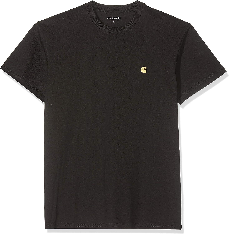 Carhartt WIP Chase T Shirt Peigné Or Blanc Streetwear College Heavyweight