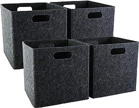 Felt Storage Basket Bin Bedroom Closet Clothes Shelf Toy Hamper Organizer Box UK