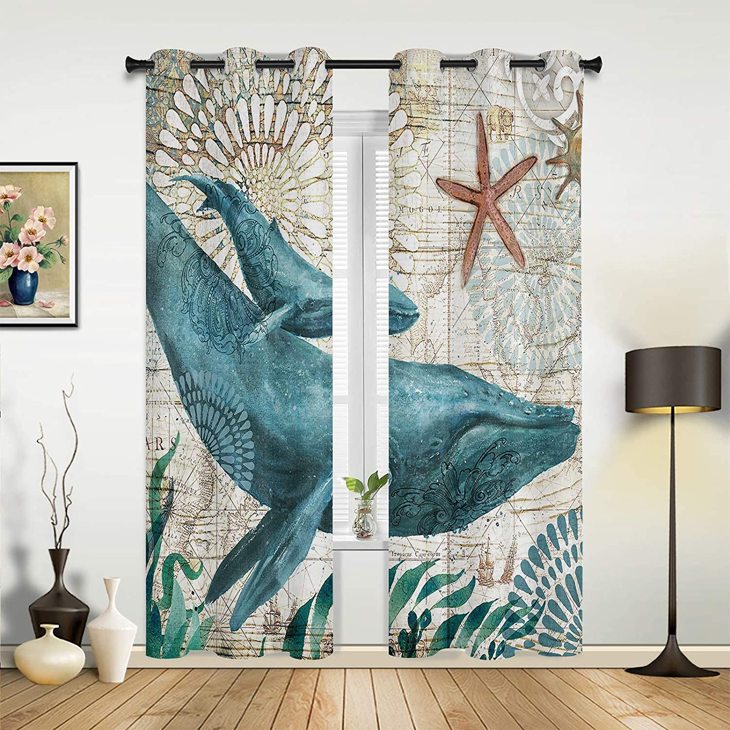 Beauty Decor Great interest Window free shipping Sheer Curtains Fanta Bedroom Living Room for