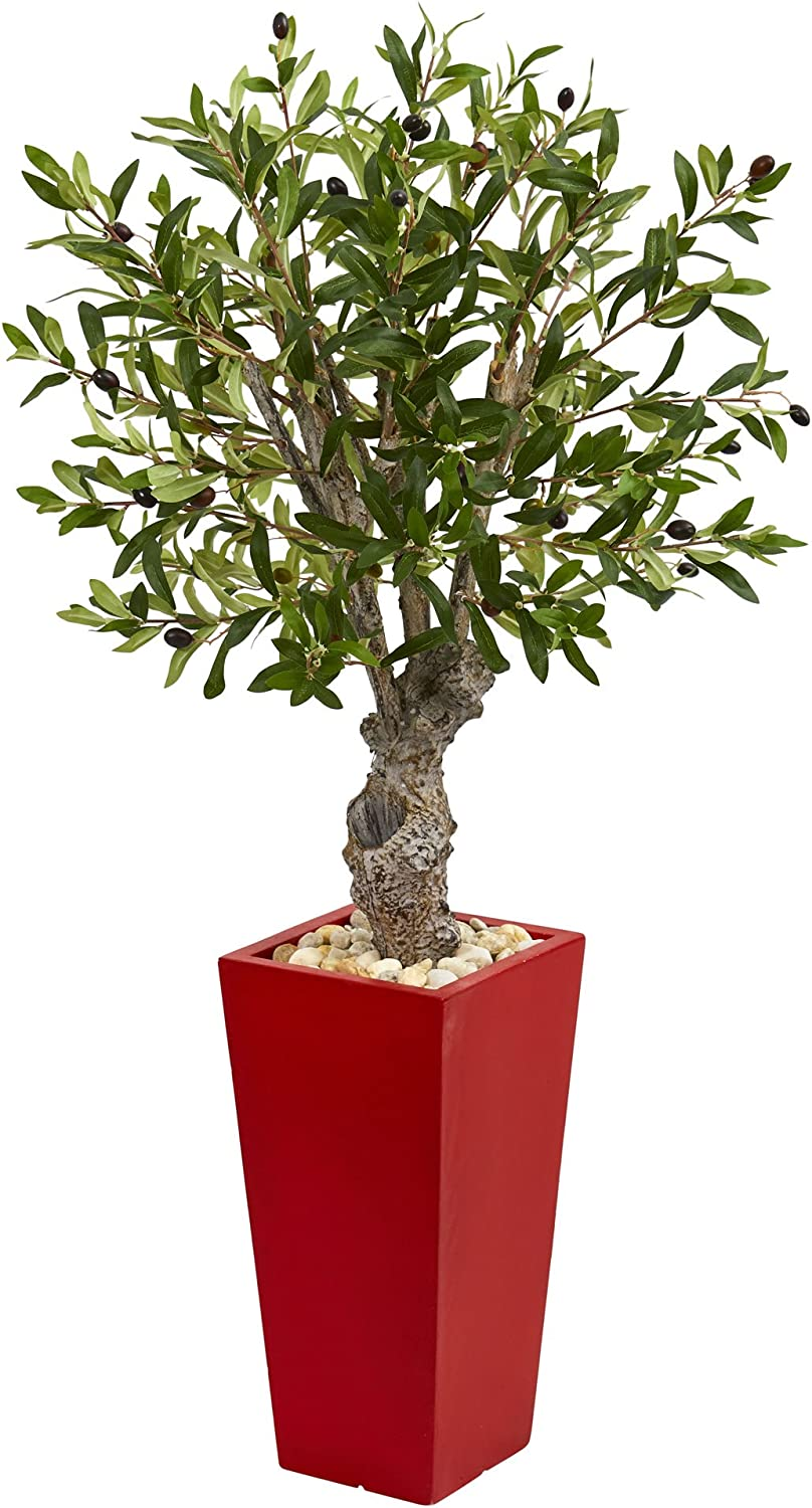 Finally resale start OFFicial shop Nearly Natural Olive Artificial Tree in 40