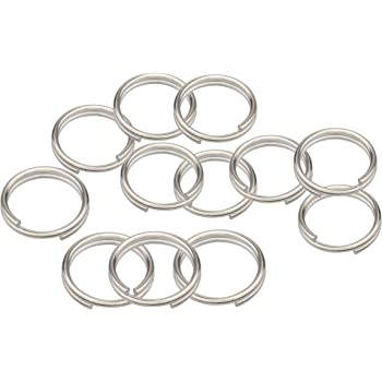 32mm, 30pcs Beadnova Key Chain Ring Metal Split Ring for Dog Tag and Keys Organization