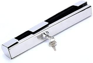 Amarine Made Stainless Steel Hi-Security Outboard Motor Lock Heavy Duty, Brass Lock