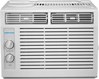 Emerson Quiet Kool 5,000 BTU 115V Window Air Conditioner with Mechanical Rotary Controls,..