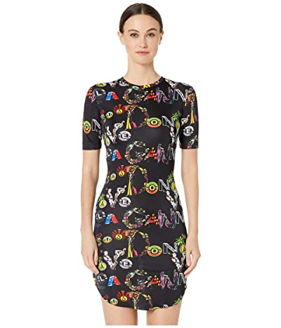 Versus Versace Jersey Collage Dress (Black Print) Women
