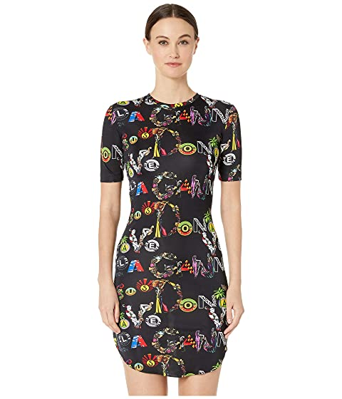 Versus Versace Jersey Collage Dress