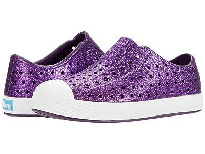Native Kids Shoes Jefferson Bling Glitter (Little Kid) (Cosmic Bling Glitter/Shell White) Girls Shoes