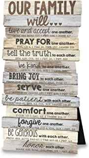 Lighthouse Christian Products Our Family Will Love One Another Rustic Stacked Pallet 5 x 10 Wood...