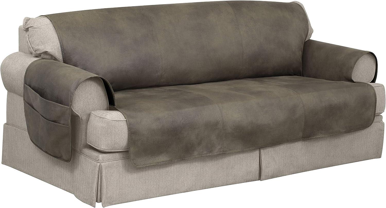 Serta 866640 Faux Leather Furniture Predector, Sofa Fawn
