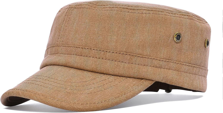 BOTVELA Men Overseas parallel import regular item Women Cotton Twill Cap Virginia Beach Mall Hat Army Adjustable Military