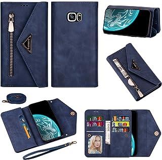 LODROC Lederen Wallet Case voor Galaxy S7, [Kickstand Feature] Luxe PU Lederen Wallet Case Flip Folio Cover met [Card Slot...