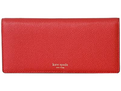 Kate Spade New York Margaux Bifold Continental Wallet (Hot Chili) Checkbook Wallet