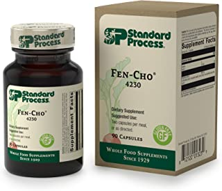 Standard Process - Fen-Cho - Collinsonia, Fenugreek, Okra, Supports Healthy Bowel Function and Intestinal Health, Gluten Free - 90 Capsules