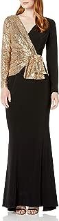 Women's Sequin Jersey Mixed Gown