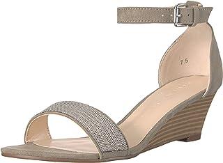 Athena Alexander Women's Enfield Wedge Sandal, Grey Suede, 7.5 M US