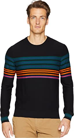 Cotton/Merino Striped Sweater