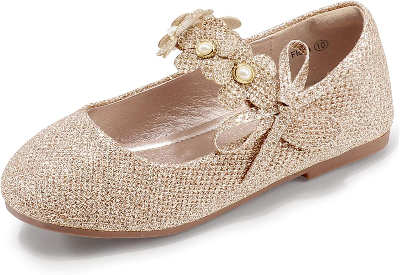 Max 45% OFF PANDANINJIA Girls Toddler Little Kid Cheap sale Flora Flats Dress Pea Shoes