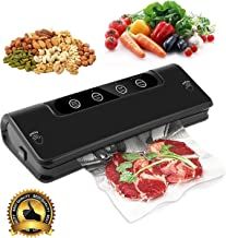 Vacuum Sealer Machine, Automatic/Manual Fresh Food-Sealers Packing Machines, Fruits Meat Food-Savers & Wine Preserver System with Dry & Moist Sealing Modes, Sous Vide bags, LED Indicator Lights