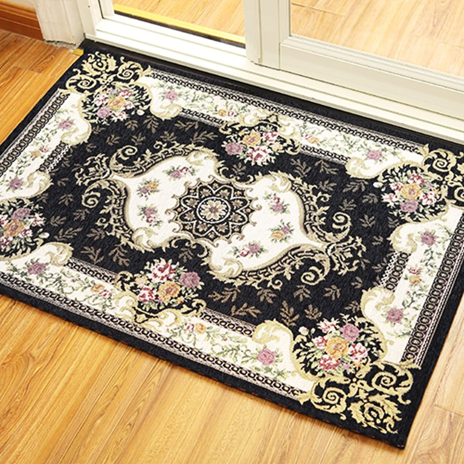 European Style,Indoor Mats Doormat Foot Pad Doormat Door,Living Room,Lobby Floor Mats Bedroom,Indoor Mats Non-Slip Mat-C 140x160cm(55x63inch)