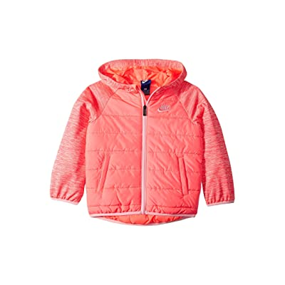 Nike Kids Therma Fleece Quilted Jacket (Little Kids) (Racer Pink) Girl