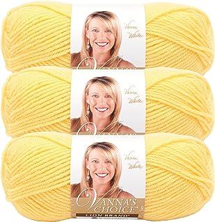 (3 Pack) Lion Brand Yarn 860-159 Vanna's Choice Yarn, Lemon