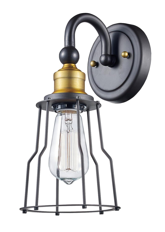 Trans Globe照明70811?Rob憲法インドアRubbedオイルブロンズ工業壁取り付け用燭台、5.5?