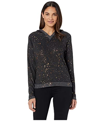 Hard Tail Raglan Hoodie (Black/Copper Splatter) Women