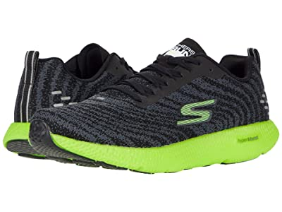SKECHERS Go Run 7+ (Black/Lime) Men