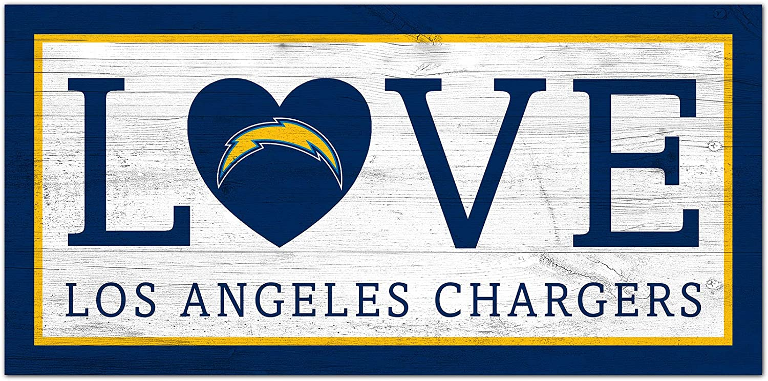 Easy-to-use NFL San Diego Chargers Unisex Low price Te Angeles Love Los sign