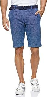 Giordano Men's 01108207 Cotton Linen Shorts