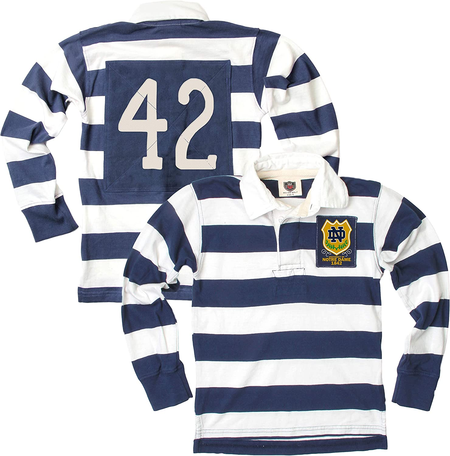 Wes & Willy Notre Dame Fighting Irish Youth Rugby Polo