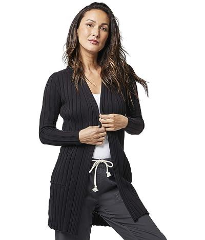 PACT Organic Cotton Wide Rib Cardigan (Black) Women